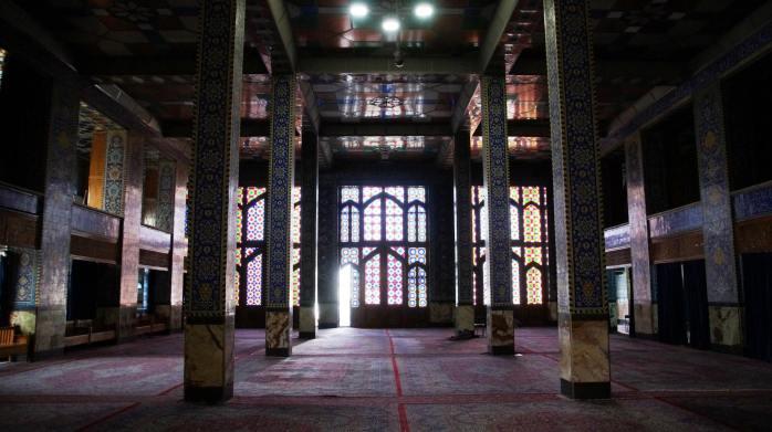 wnętrze jednego z meczetów